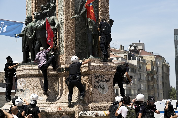 The Republic Monument in Taksim Square, Istanbul, Turkey