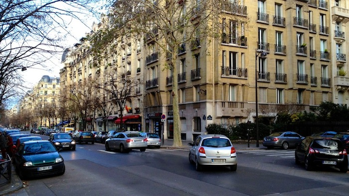 A street and buildings in the 15th arrondissement of Paris, France
