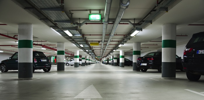 Europe's largest underground parking lot in Cologne, Germany