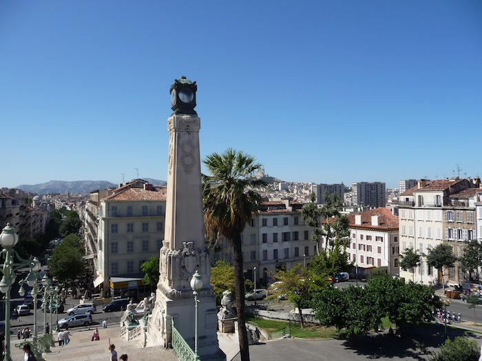 The neighborhood surrounding the Gare Saint-Charles in Marseille, France