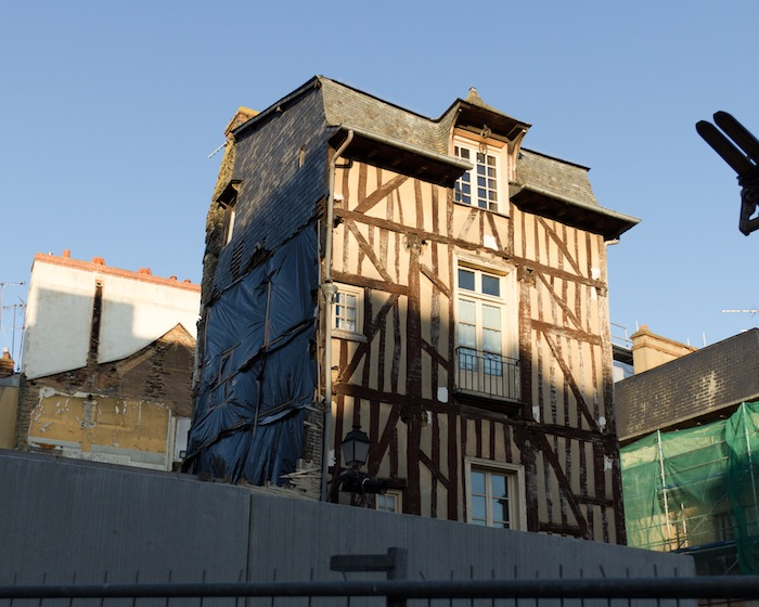 The historic building in Place Saint-Michel in Rennes, France