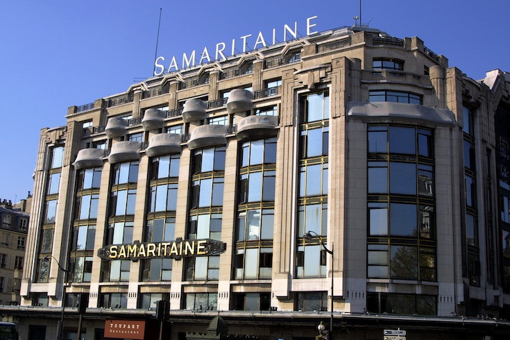 The La Samaritaine Building in Downtown Paris, France