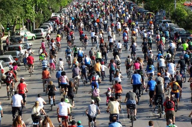 Bike's Race in Thessaloniki's Streets