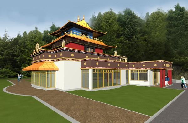 Dzogchen Beara 3D plan for the temple, Cork, Ireland