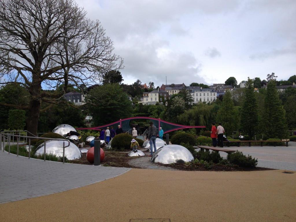 New areas in Fitzgerald Park, Cork, Ireland