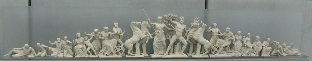 Reconstruction of the east pediment of the Parthenon, Acropolis Museum, Athens, Greece
