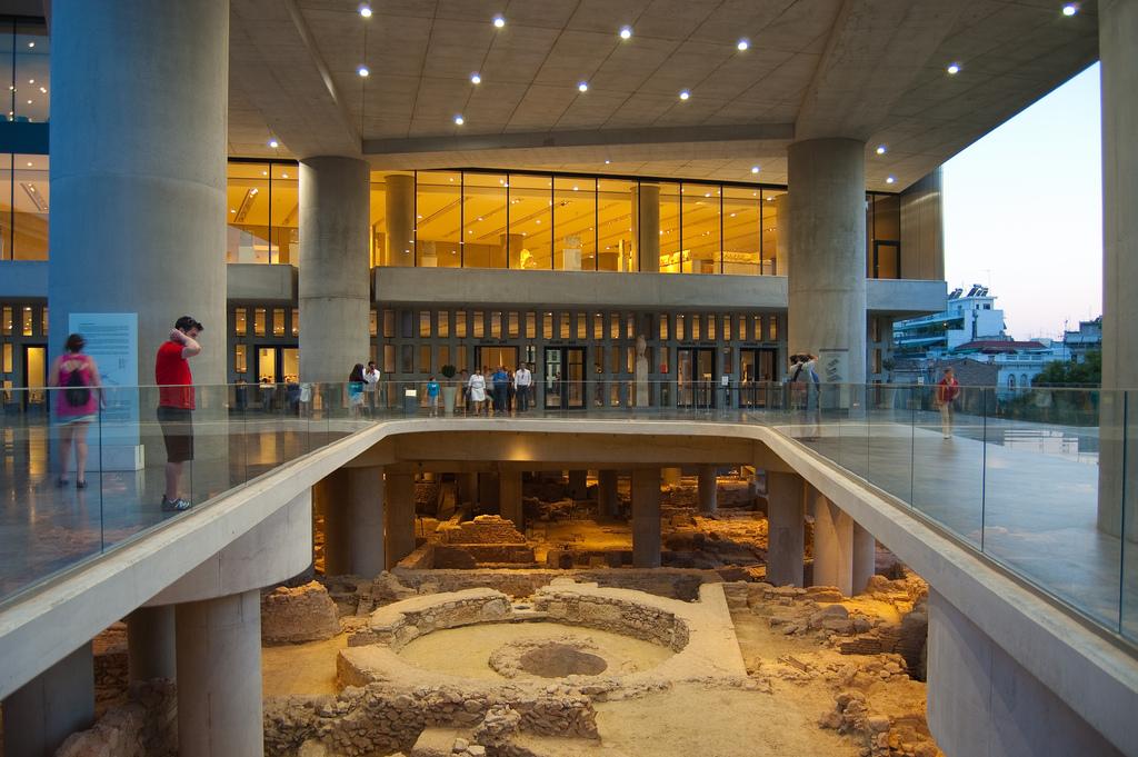 Exterior, New Acropolis Museum, Athens, Greece