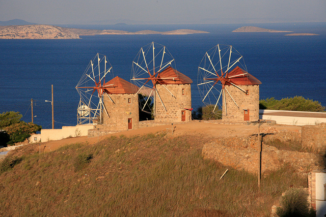 The three querns, Patmos Island, Greece