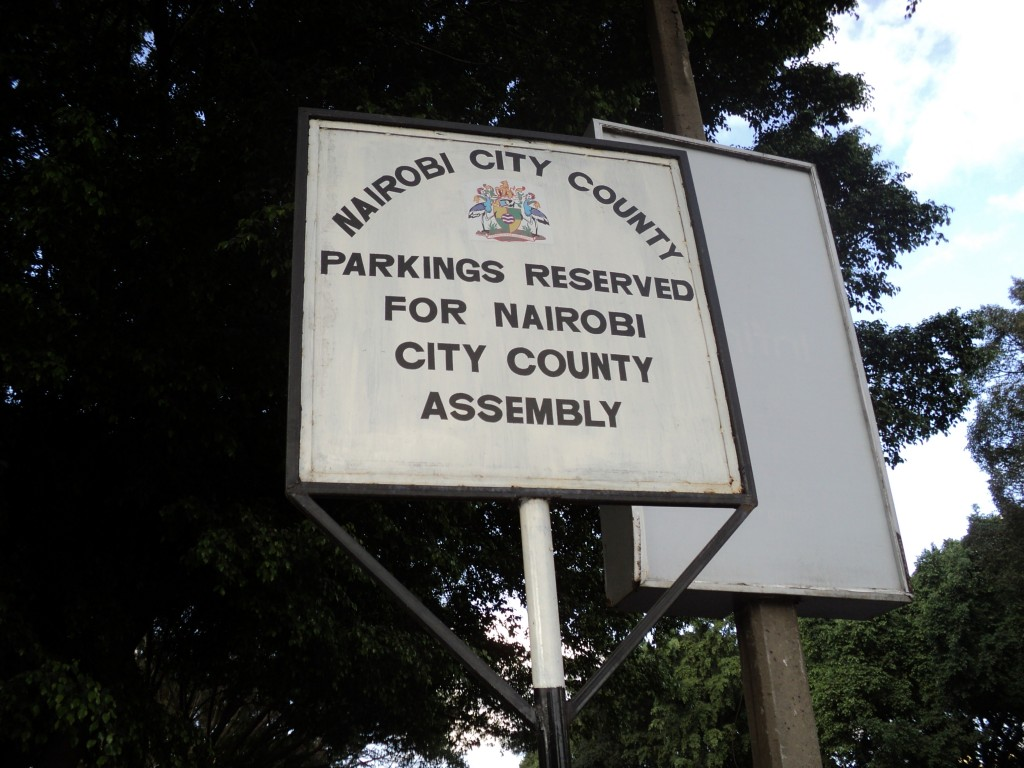 Some Parking Spaces in the Central Business District are Reserved, Nairobi, Kenya, Africa