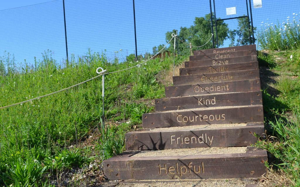 Stairs to Middleton community garden, Wisconsin