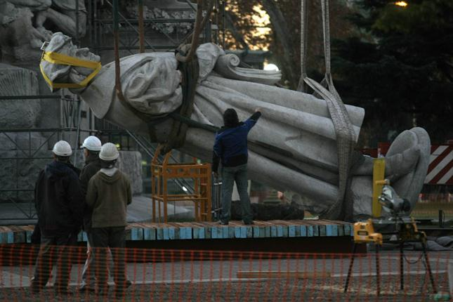Statue of Columbus, dismantled, Buenos Aires, Argentina