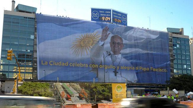 Graphic Banner with Pope Francis, Buenos Aires