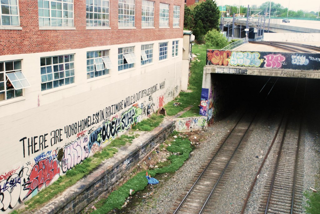 Street Art near MICA and Penn Station in Baltimore City, Maryland
