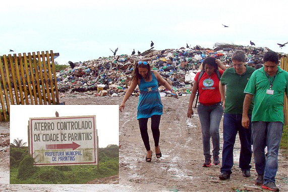Luiz Castro visiting the landfill in Parintins, Brazil.