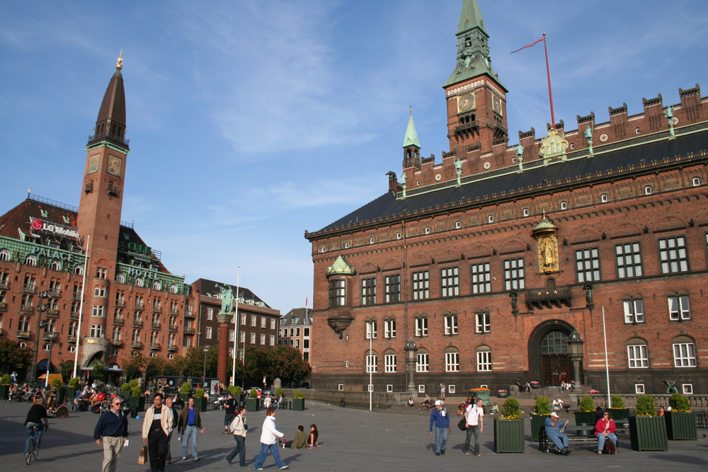 Rådhuspladsen Vartorv, City Hall Square, Copenhagen, Denmark