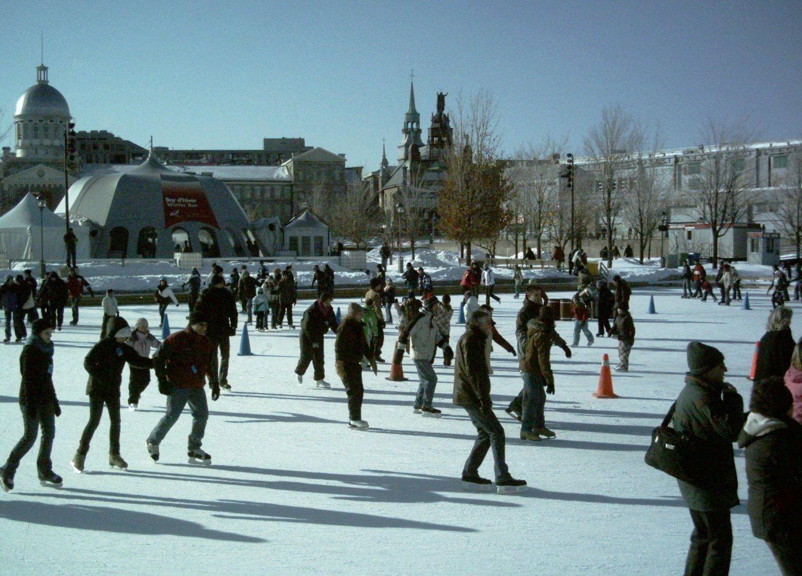Vieux-Port Montreal Patinoire, Montreal, Quebec, Canada