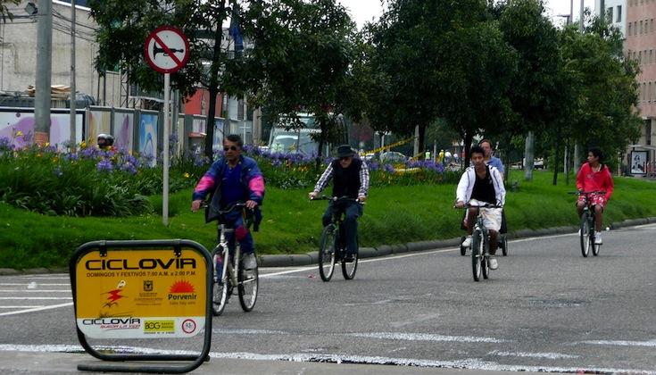 A ciclovía event in Bogotá, Colombia
