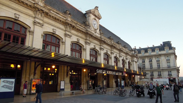 The Gare Saint-Jean in Bordeaux, France