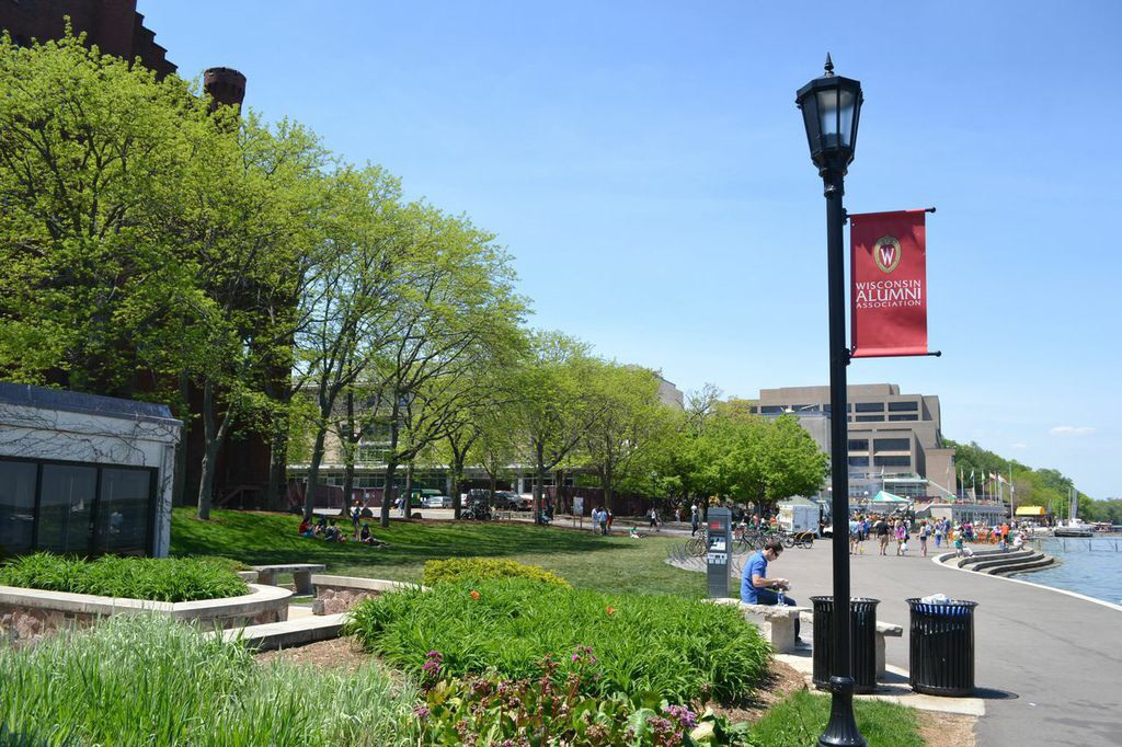 A view of the Memorial Union from the Alumni Center, Madison, Wisconsin