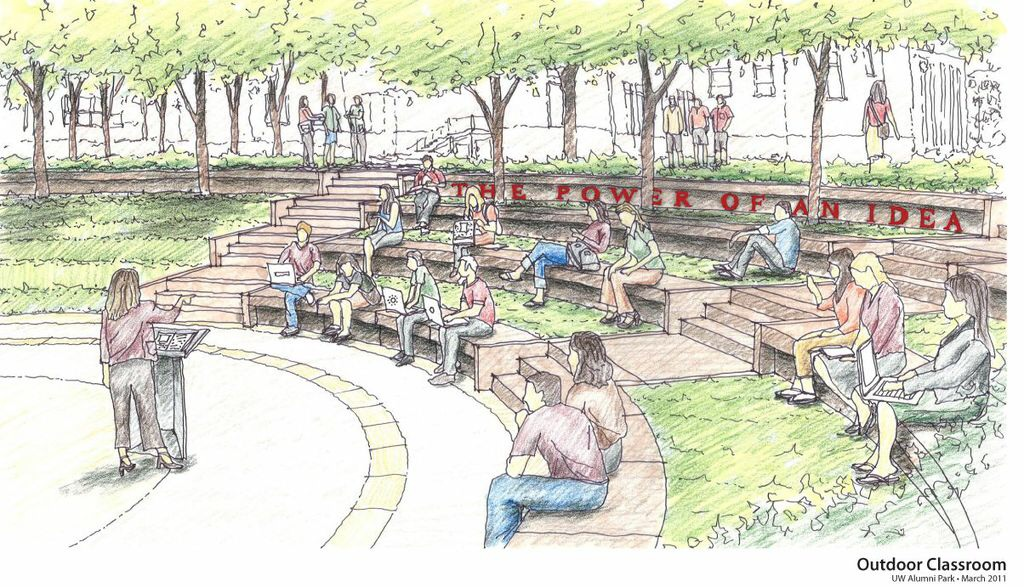 The future outdoor classroom in Alumni Park, Madison, Wisconsin
