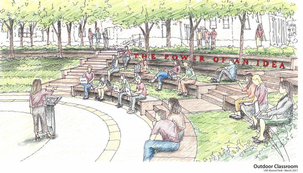 The future outdoor classroom in Alumni Park, Madison, Wisconsin
