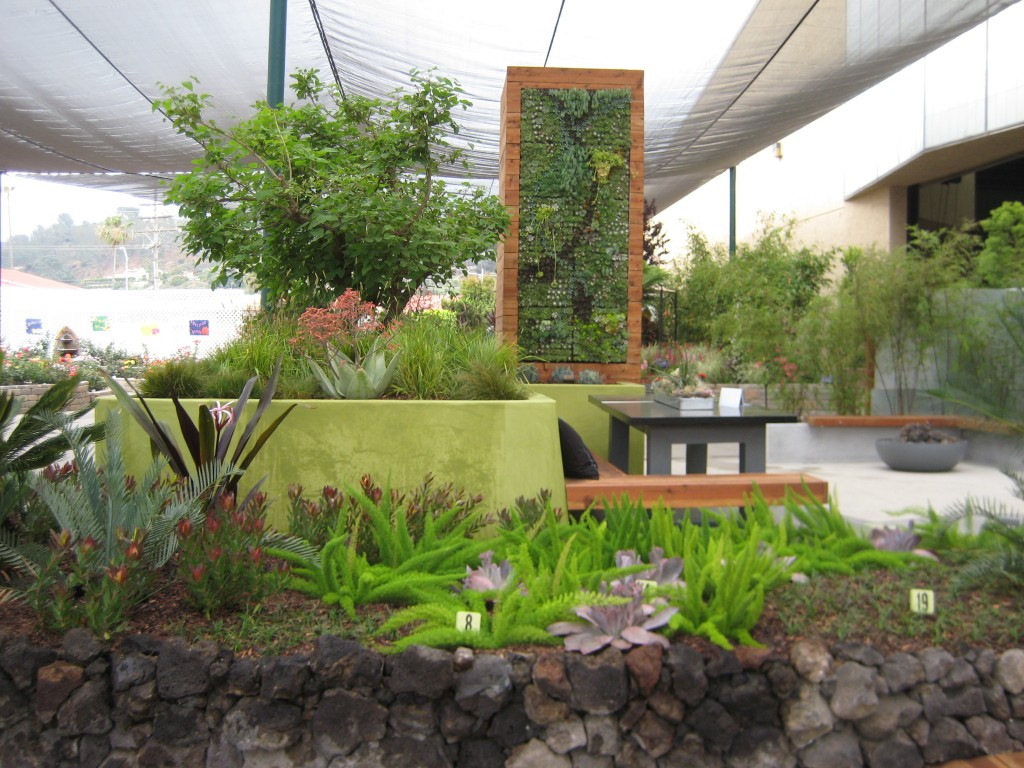 Backyard landscaping at the Royal Melbourne Garden Show, Melbourne, Australia