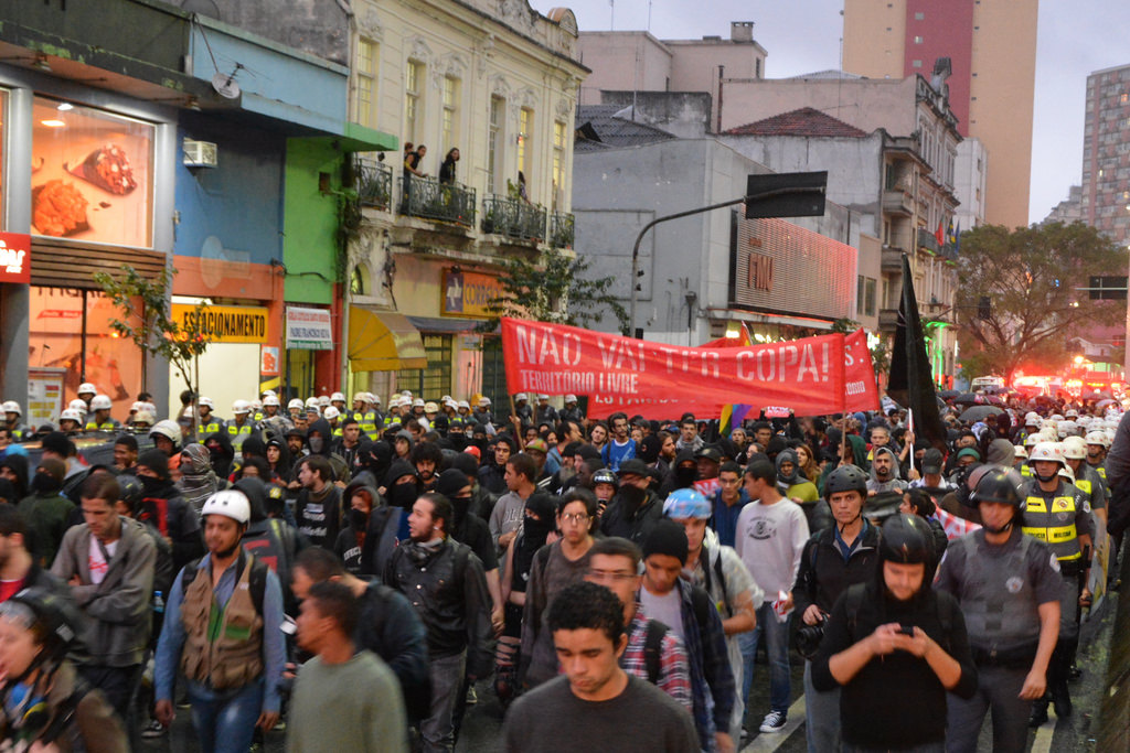 Protests against the World Cup in Sao Paulo, Brazil