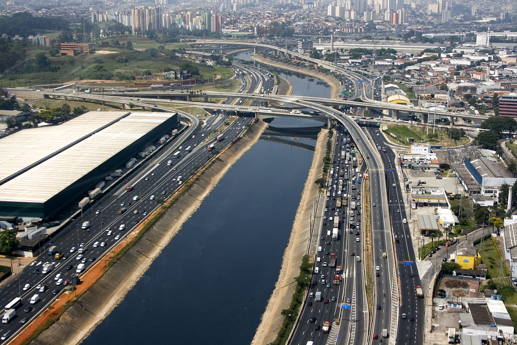 Highway system in Sao Paulo, Brazil
