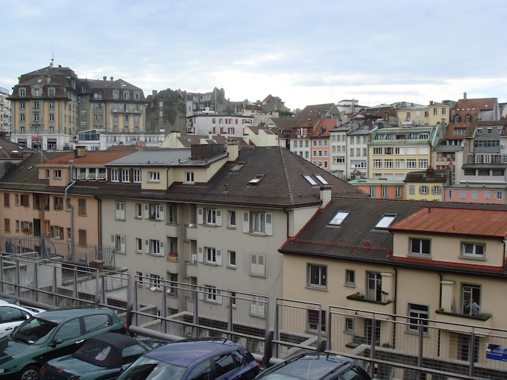 A rather densely built area in Lausanne, Switzerland