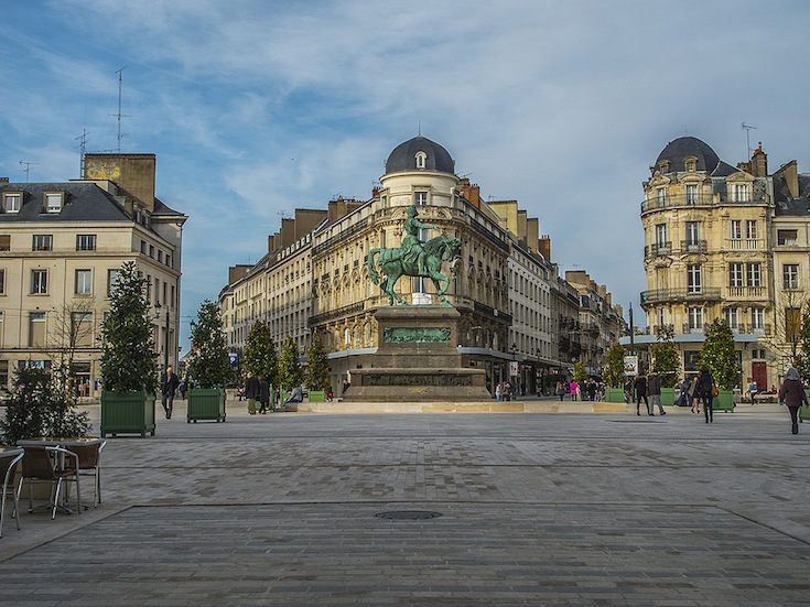 La Place du Martroi in Orléans, France