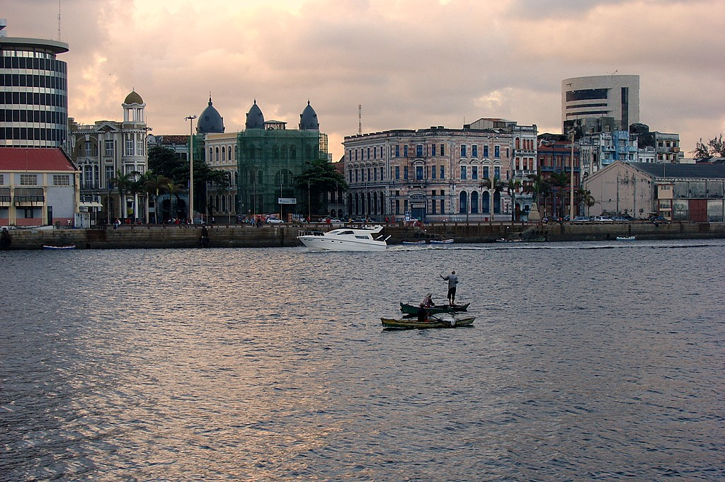 View of the old city in Recife, Brazil.
