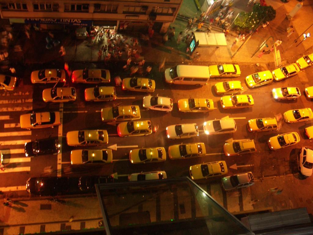 Traffic jam in Copacabana in RIo de Janeiro, Brazil