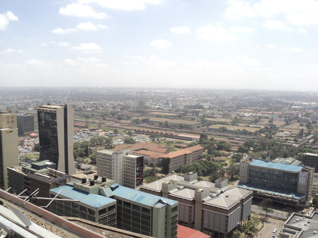 Aerial View of Nairobi Railway Station, Kenya
