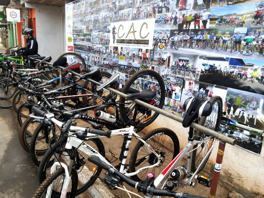 Another example of an earlier established bicycle support center in Sao Paulo, Brazil
