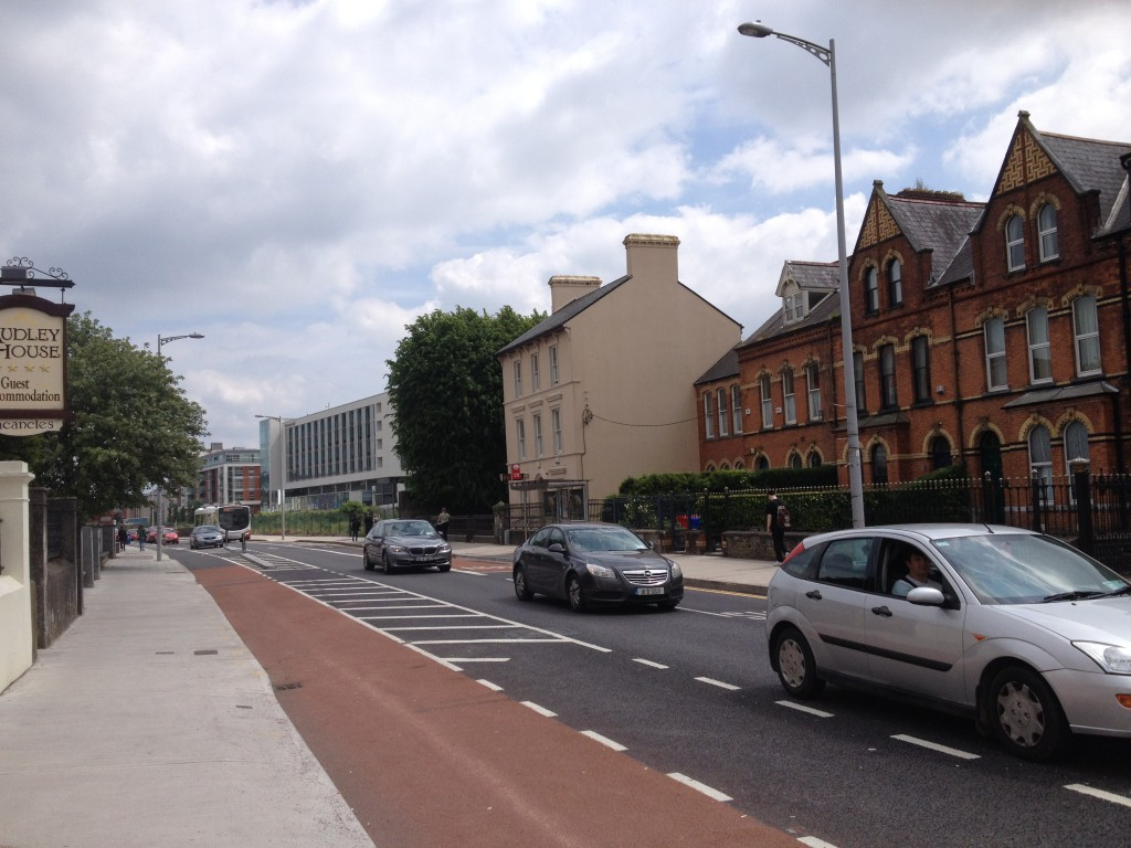An example of a green route, Cork City, Ireland