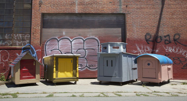San Francisco's mobile homeless shelters made from trash by Gregory Kloehn, San Francisco, California