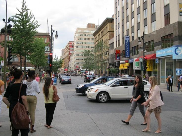 Montreal Rue Sainte-Catherine, Saint Catherine Street, Montreal, Canada