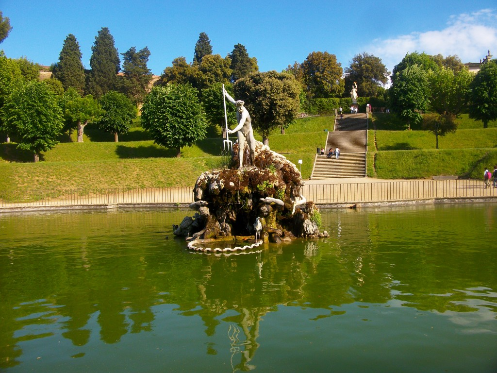 The central fountain of Boboli gardens, Florence, Italy