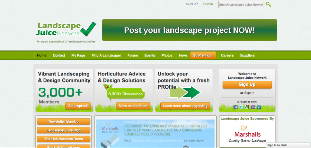 Landscape Juice Network
