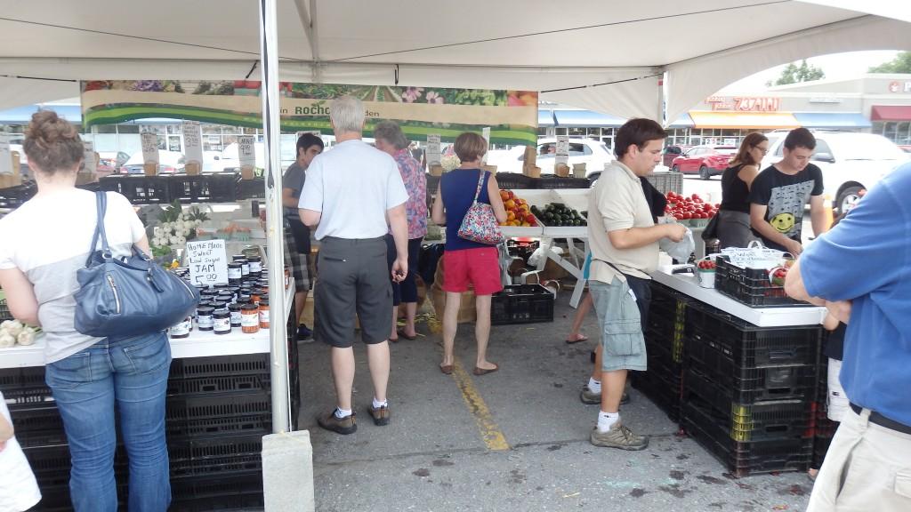 Farmers' market in Kanata, Ontario (suburb of Ottawa), Canada