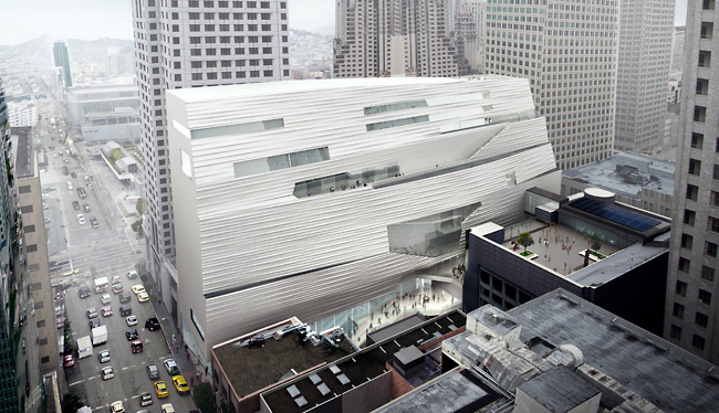 SFMOMA expansion rendering, San Francisco, California.
