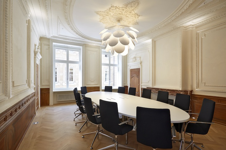 A recently refurbished room within the historic Bierger-Center of Luxembourg City, Luxembourg. Credit: Christof Weber