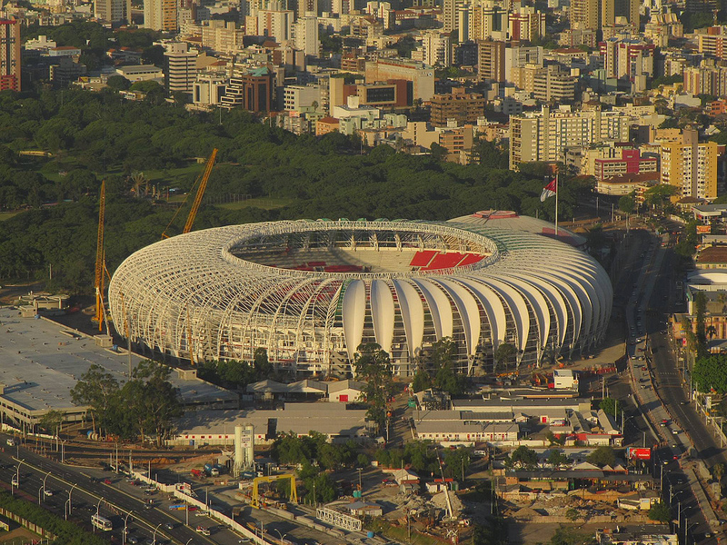 World Cup stadium in Porto Alegre, Brazil