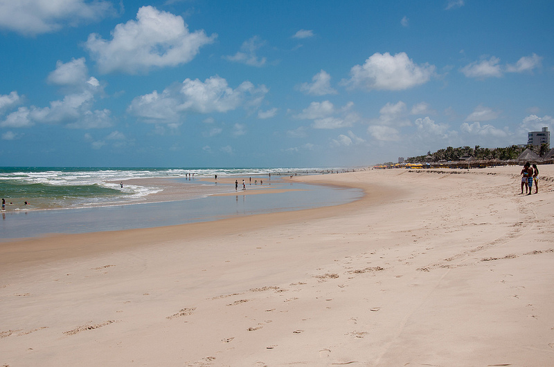 An example of a well maintained beach outside of Fortaleza, Brazil