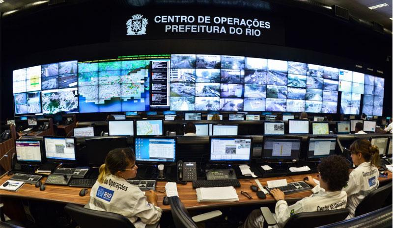 The operations center for the Rio Smart City program, Rio de Janeiro, Brazil