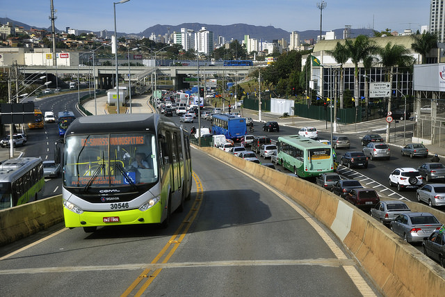 The BRT system in Brasilia.