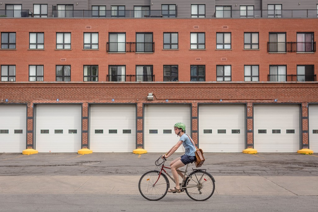 Quebec, Canada bicyclist