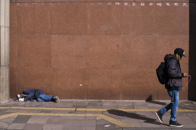 An example of homelessness in Porto Alegre, Rio Grande do Sul, Brazil