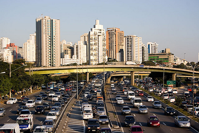 Traffic in the city of Sao Paulo, Brazil.