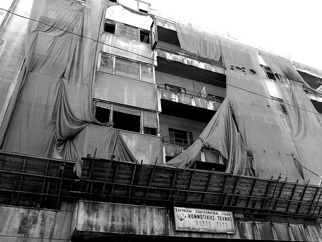 Abandoned Building, Athens, Greece